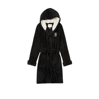Victoria's Secret Monogrammed Short Hooded Plush Robe