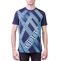 Versace Collection Men's Crew Neck Regular Fit T-Shirt Aqua Blue