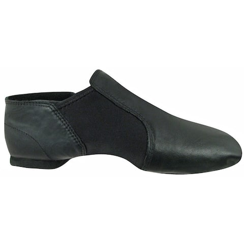 Girls Black Leather Gore Split Sole Jazz Boots 10 Toddler-4Kids