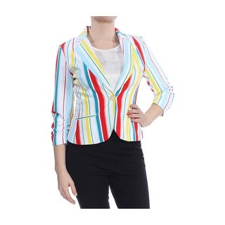 Link to Xoxo Womens Ruched Sleeve One Button Blazer Jacket Similar Items in Suits & Suit Separates