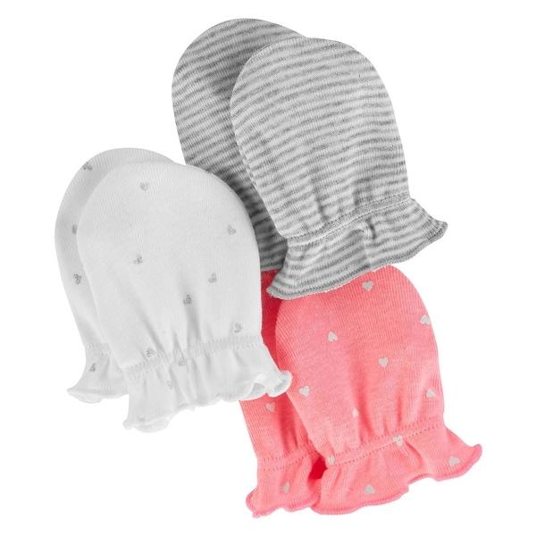 Carters Baby Girls 3-Pack Scratch Mittens Set