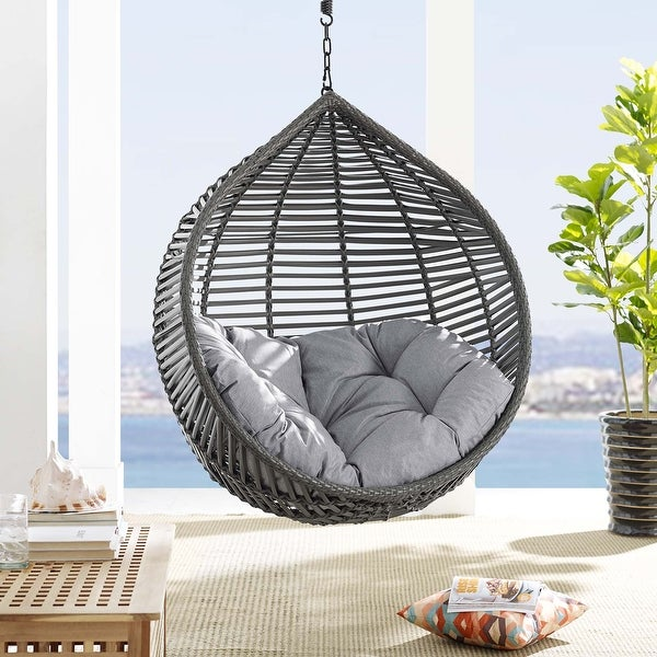 Garner Teardrop Outdoor Patio Swing Chair Without Stand. Opens flyout.