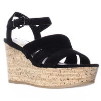 Via Spiga Kendall Platform Wedge Strappy Sandals, Black