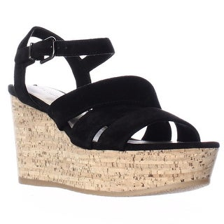 Via Spiga Kendall Platform Wedge Strappy Sandals, Black
