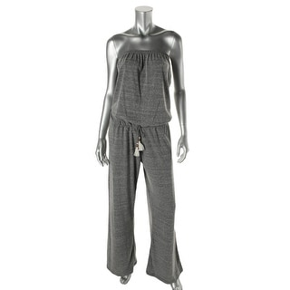 Lucky Brand Womens Strapless Lace Trim Jumpsuit Swim Cover-Up - XS/S