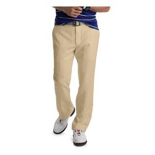 Izod Mens Khaki Pants Moisture Wicking Classic Fit