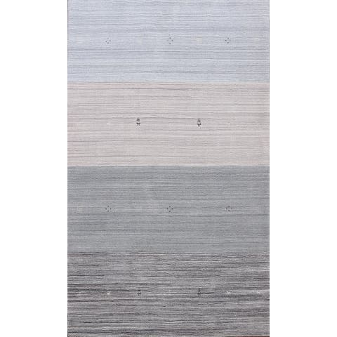 """Tribal Contemporary Gabbeh Oriental Area Rug Wool Hand-knotted Carpet - 5'8"""" x 8'1"""""""