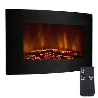 "Costway 35"" Xl Large 1500w Adjustable Electric Wall Mount Fireplace Heater W/remote"