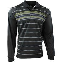 Long Sleeve Front Stripe Polo