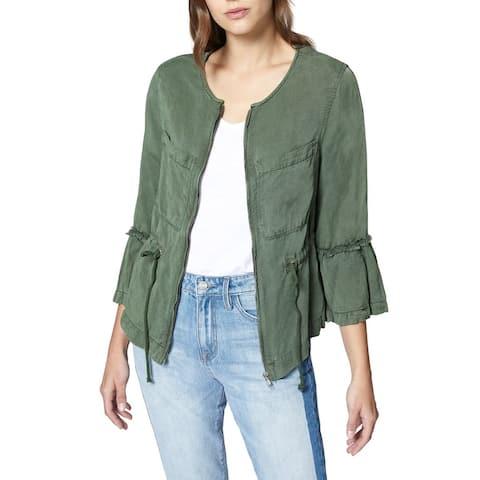 Sanctuary Green Women's Size Small S Utility Peplum Jacket