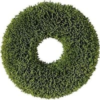"11"" Decorative Artificial Two Tone Green Botanical Spring Wreath - Unlit"