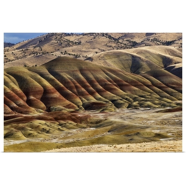 """""""Painted Hills at John Day Fossil Beds National Monument, Painted Hills Unit"""" Poster Print"""