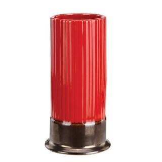 Shotgun Shell Juice Glass - Red Ceramic
