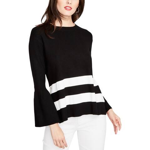 Rachel Rachel Roy Womens Pullover Sweater Bell Sleeve Open Back