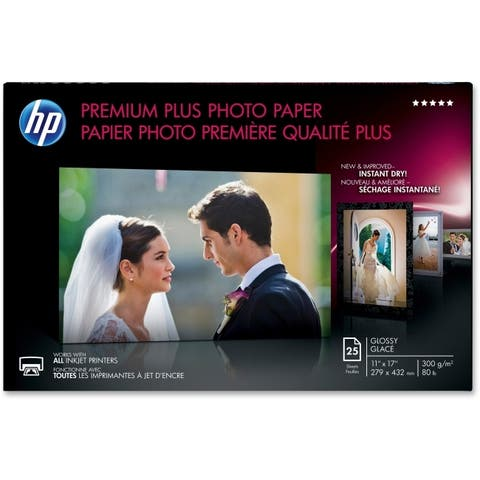 Hp inc. cv065a hp premium plus photo paper, glossy, 11x17, 25sh. hps highest-quality paper for