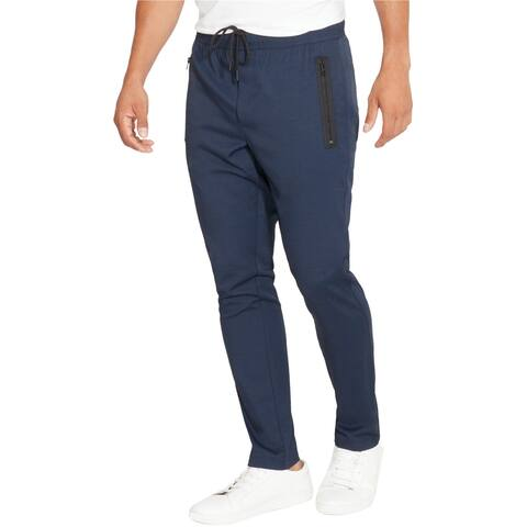 Kenneth Cole Mens Solid Casual Jogger Pants, blue, Small