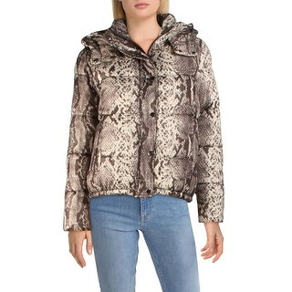 Link to Aqua Womens Puffer Coat Winter Quilted - Snake Similar Items in Women's Outerwear