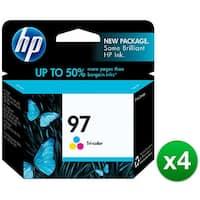 HP 97 Tri-color Original Ink Cartridge (C9363WN) (4-Pack)