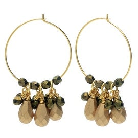 Beaded Hoop Earrings - Gold/Green - Exclusive Beadaholique Jewelry Kit