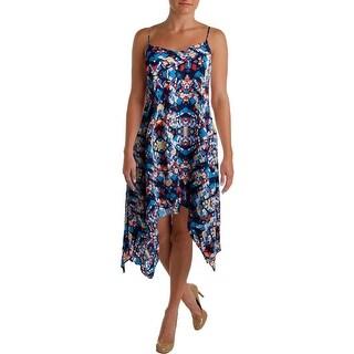Aqua Womens Casual Dress Printed V-Neck
