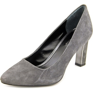 Alfani Prima Taluluh Women Pointed Toe Suede Gray Heels