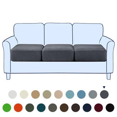 Subrtex 3-Piece Stretch Separate Sofa Cushion Cover Elastic Slipcover