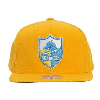 San Diego Chargers Mitchell & Ness Yellow Adjustable Snapback
