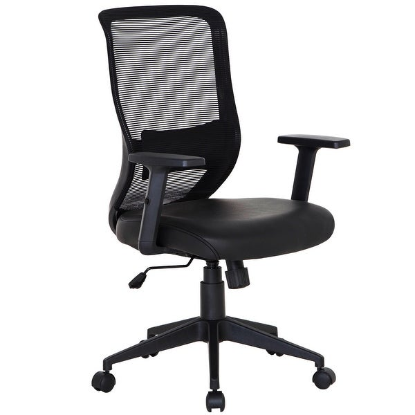 d9c6900cc41 Shop Office Chair PU Surface Cushion Adjustable Swivel Mesh Desk ...