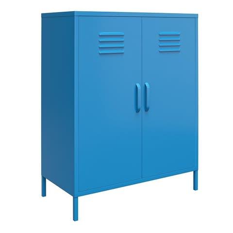 Novogratz Cache 2 Door Metal Locker Storage Cabinet