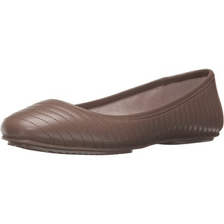 Kenneth Cole NY Tracy Women Round Toe Leather Brown Flats