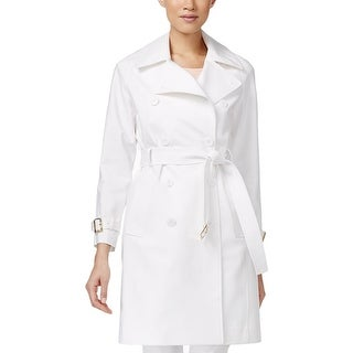 Calvin Klein Womens Trench Coat Double-Breasted Water Resistant