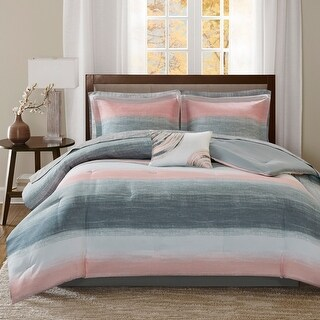 Link to Madison Park Essentials Barret Complete Bed Set and Sheet Set Similar Items in Bed-in-a-Bag