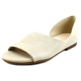 Naya Eleni Women Open-Toe Leather Ivory Flats
