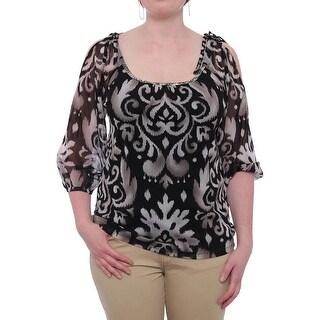 INC International Concepts Embellished Cold-shoulder Blouse Women Blouse