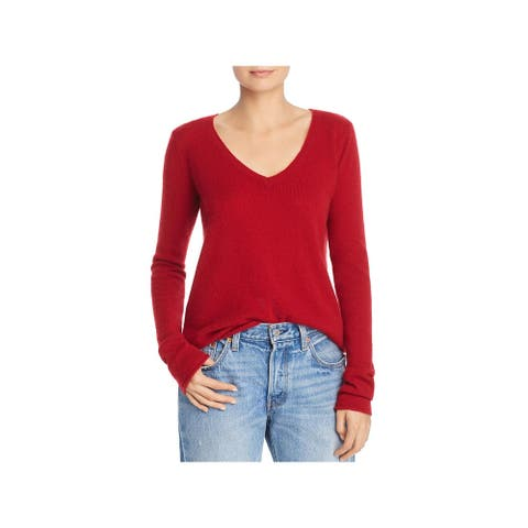 ATM Womens Pullover Sweater Cashmere V-Neck