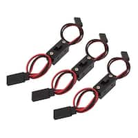 3 Pcs ON/OFF Power Switch 2 Cable Wire Futaba J Male Female Connector
