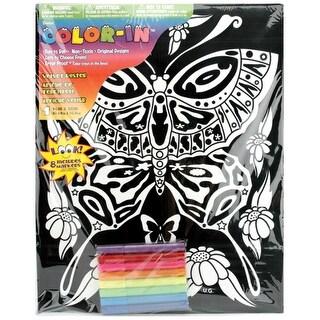 """Color-In Velvet Poster 16""""X20""""-Butterfly"""