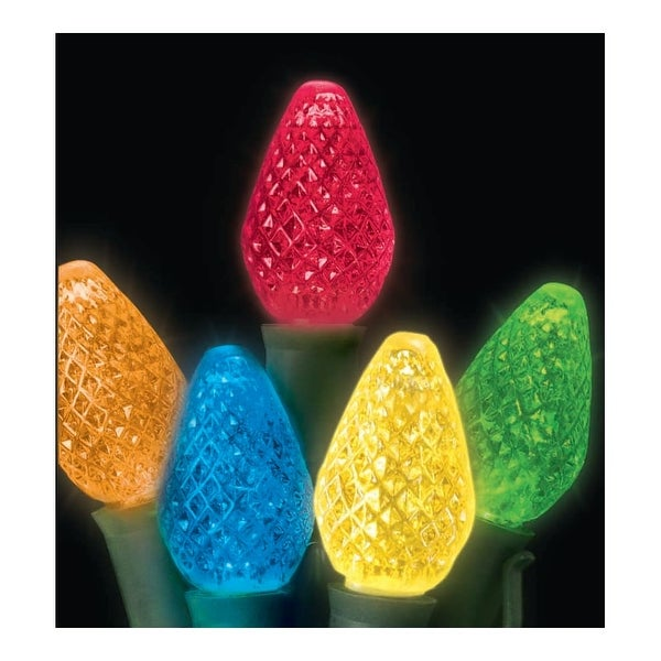 Christmas at Winterland S-25C75M-8G 15 Foot String of Multicolor C7 LED Lights with 8 Inch Spacing and Green Wire - N/A