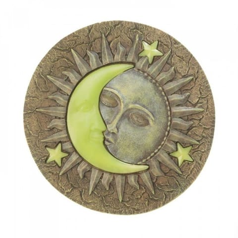 Set of 6 Sun And Moon Glowing Stepping Stones