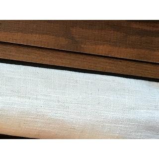 Heavy Faux Linen Curtain Panel