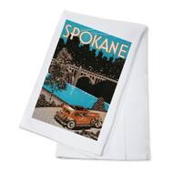 Spokane, WA - Poster #1 - Vintage Advertisement (100% Cotton Towel Absorbent)