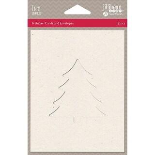 "Jillibean Soup Shaker Cards W/Envelopes 5.5""X4.25"" 6/Pkg-Tree"