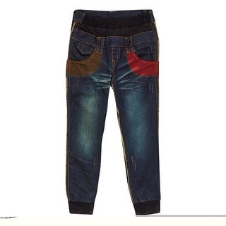 Rock'nStyle Baby Boys Dark Blue Guitar Patch Detail Denim Pants