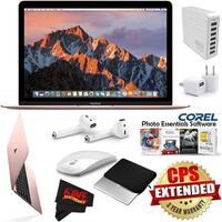 """Apple 12"""" MacBook (Mid 2017 Rose Gold) 256GB SSD MNYM2LL/A + eDigitalUSA MicroFiber Cleaning Cloth Bundle"""