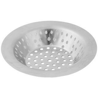 Family Metal Round Garbage Stopper Drainer Sink Strainer Silver Tone 10.9cm Dia