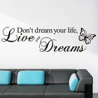 Butterfly Quote Vinyl Wall Decal