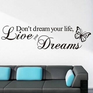 Waterproof Butterfly Word Quote Vinyl Art Wall Sticker Decal Bedroom Decor