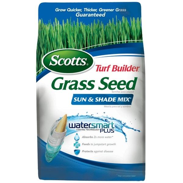 Scotts 18225 Turf Builder Grass Seed Sun & Shade Mix, 3 Lbs