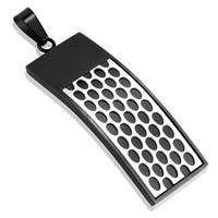 Two Tone Black IP Honey Comb Stainless Steel Pendant (16 mm Width)