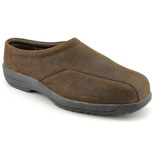 Walkabout Harlow Men Round Toe Leather Brown Clogs